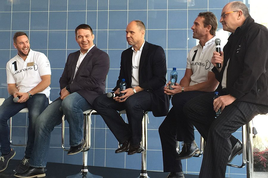 From left: Butch James, John Smit, Jeff Wilson, Justin Marshall and Grant Nisbett.